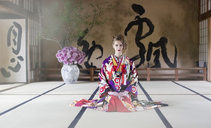 AYUMI BRIDAL KIMONO kyoto japan 扇面若松友禅