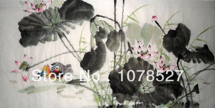/Lotus e anatra mandarino/significato amore per tutte le stagioni in da su Aliexpress.com