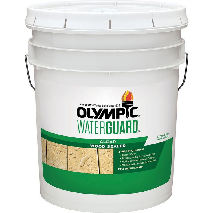 Olympic Maximum 5 Gal Clear Exterior Waterproofing Sealant 57500a 05 The Home Depot In 2020 Sealant Mildew Stains Olympics