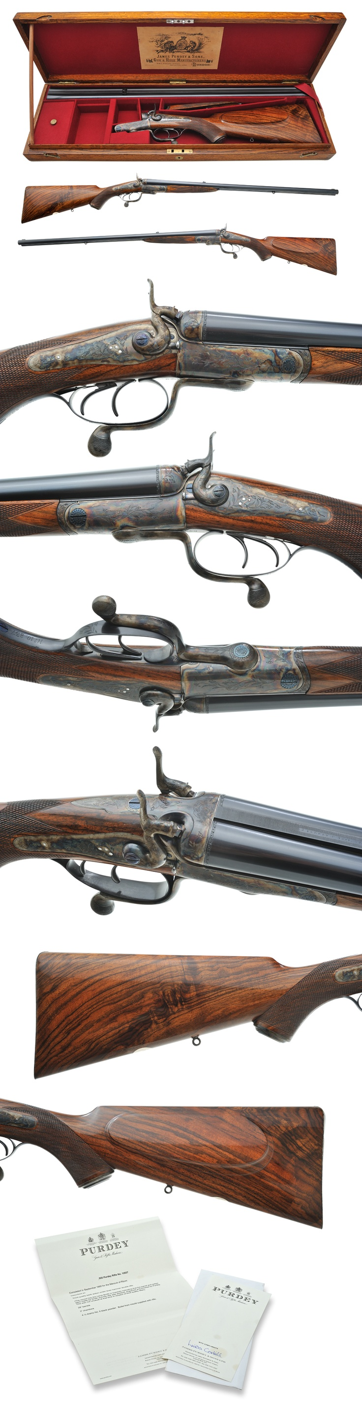 Griffin & Howe Rifle Details Page  J. Purdey & Sons double (black powder) rifle chambered in .500. A wonderful specimen prior to smokeless powder....