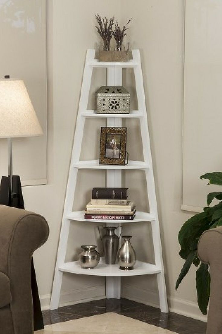 White Ladder Shelving Unit at Target! I am so in love with this and want it in my living room! #affiliate