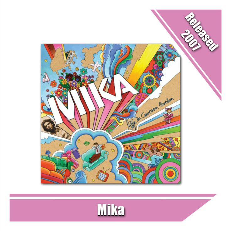 Mika's debut Album, Life in Cartoon Motion, is pure pop #mika #album #pop #popmusic #music