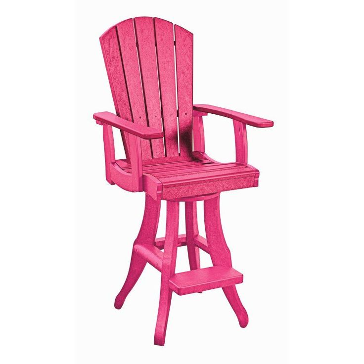 CR Plastic Generations Swivel Arm Pub Chair Fuschia - C22-10