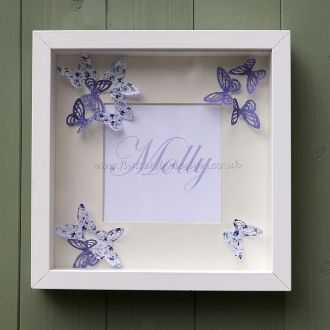 Personalised Butterfly Name Frame