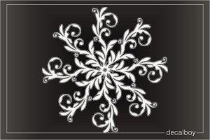 tribal floral snowflake Decal