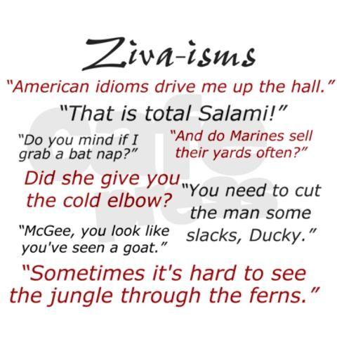 Ziva-isms from NCIS
