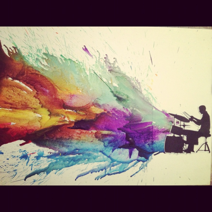Crayon art or watercolour.