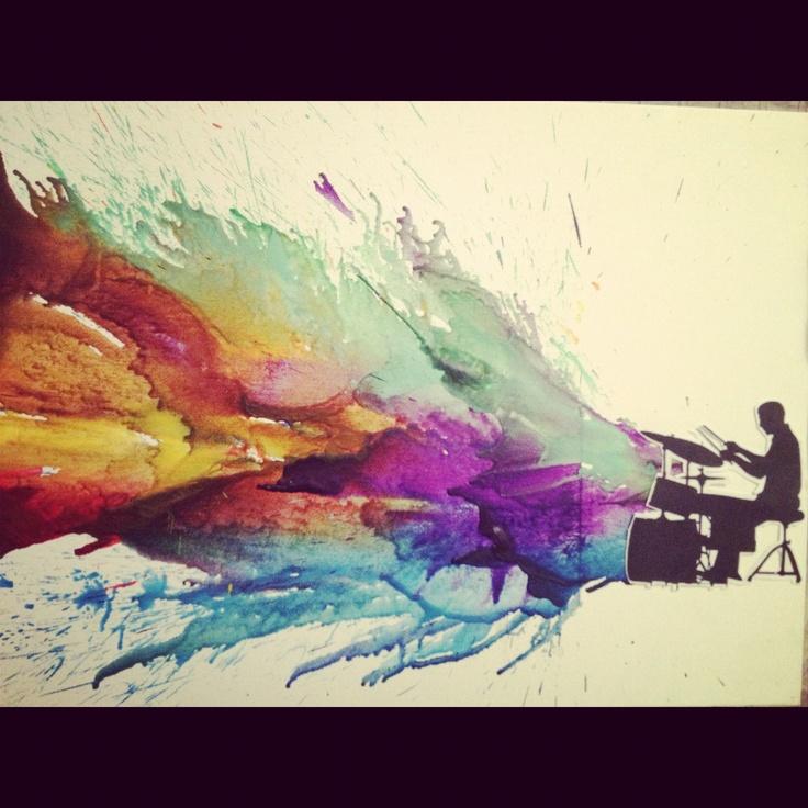 Crayon art.