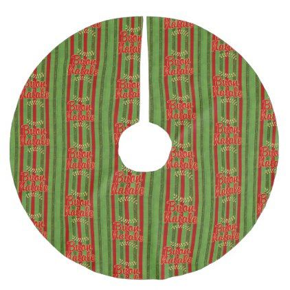 #buon Natale! Italian Merry Christmas Stripes Brushed Polyester Tree Skirt - #Xmas #ChristmasEve Christmas Eve #Christmas #merry #xmas #family #holy #kids #gifts #holidays #Santa