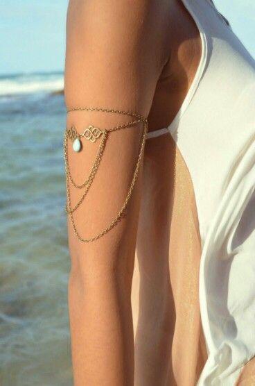 Necklace turned summer bracelet :D