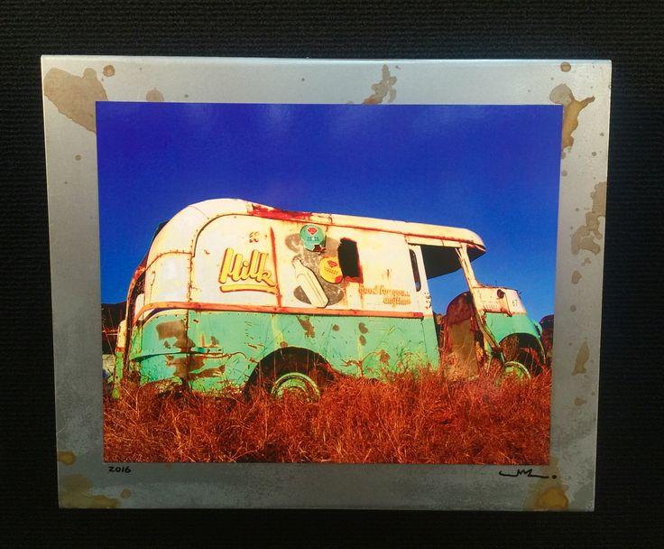 "Jalopy collection #J-036 Www.saltedstudio.com 12"" x 10"" x 2.5"" $85 each (old car photograph )"