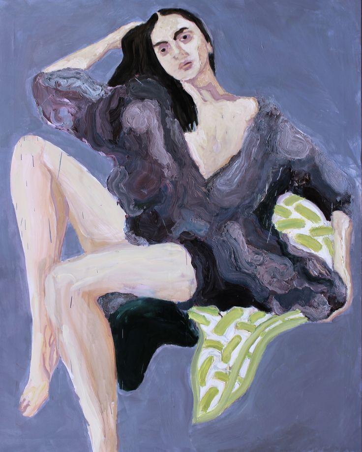 Böse Frauen können auch zärtlich sein, Zigeuner girl 2013, Oil on canvas 150x120cm by Per Adolfsen