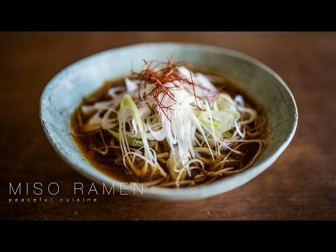 sit back, relax, and watch a master prepare miso ramen (vegetarian) | peaceful cuisine