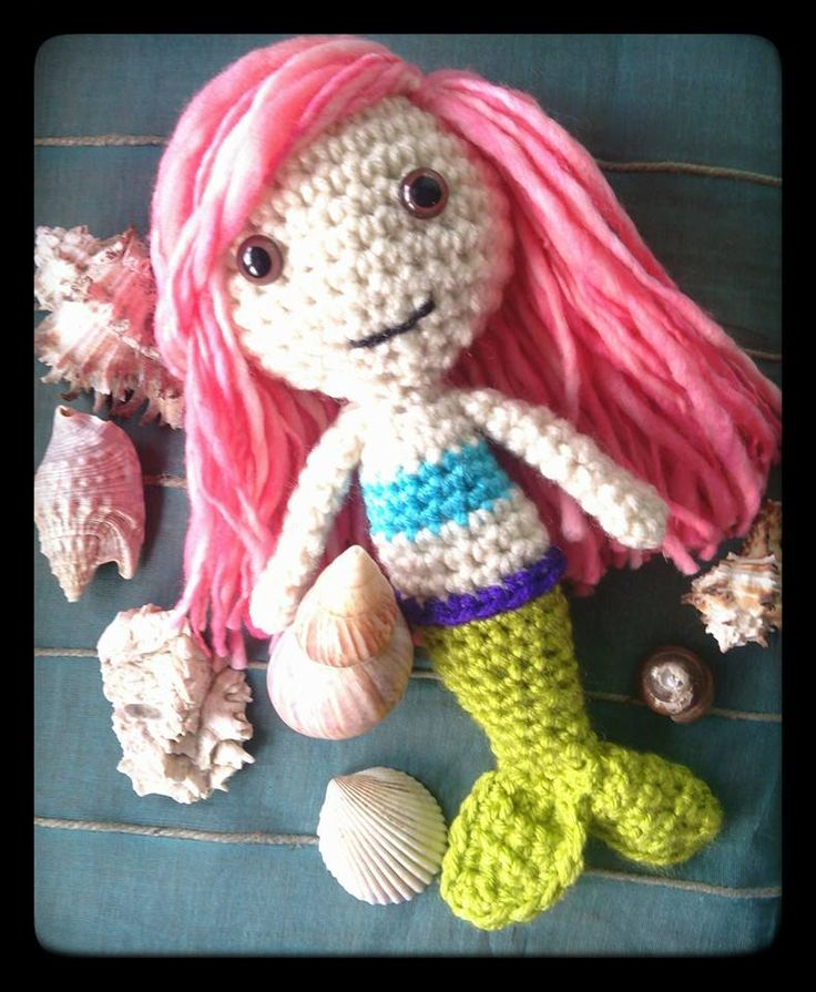 Amigurumi Lily Doll : Say hello to Lily the Mermaid! Lily is a special one of a ...
