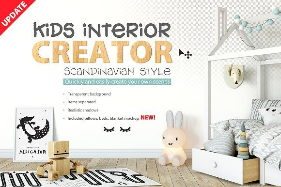 KIDS interior creator by Yuri-U on @creativemarket
