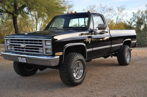 Sell used Rare factory Black 1986 Chevy K30 454 4wd 1Ton Silverado ...