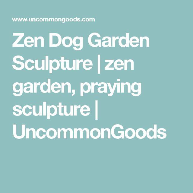 Zen Dog Garden Sculpture   zen garden, praying sculpture   UncommonGoods