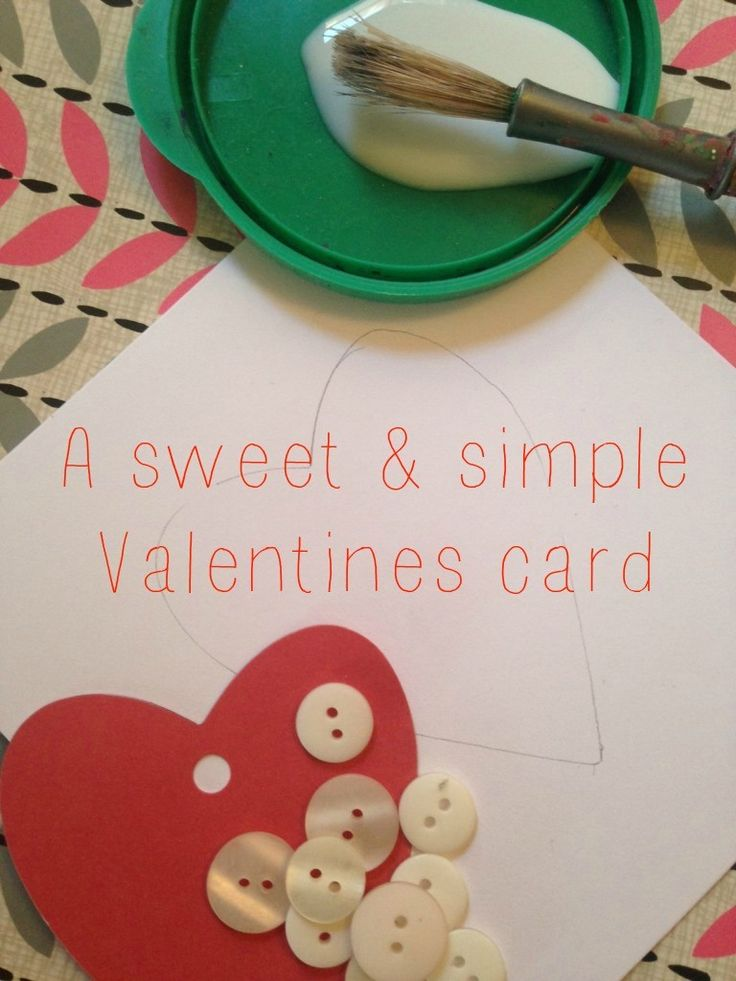 A Sweet and Simple Homemade Valentines Card