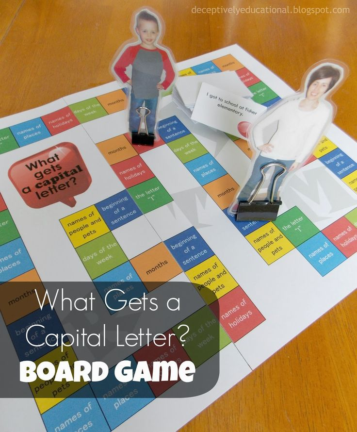 Relentlessly Fun, Deceptively Educational: What Gets a Capital Letter? (Free Printable Board Game)