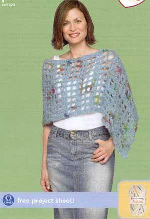 Crochet Poncho LW1520 | Free Patterns