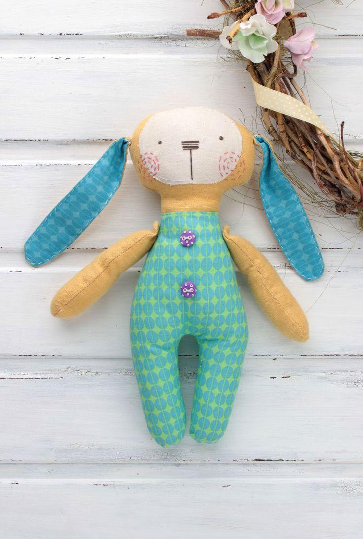 Textile Doll | Текстильный заяц «Яркая личность» — Купить, заказать, текстиль, игрушка, интерьер, декор, заяц, ручная работа