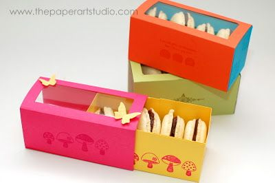 The Paper Art Studio: diy macaron boxes