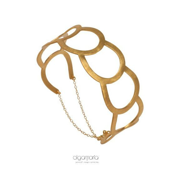 Contemporary Jewelry Gold Bracelet by OlgaMaria Jewel Inspirations