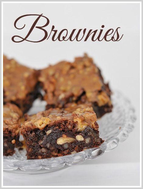 Brownies med salt karamell, by Villa Perlesukker (in Norwegian)