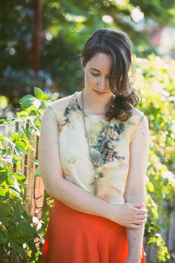 megan nielsen design diary: cropped crescent blouse
