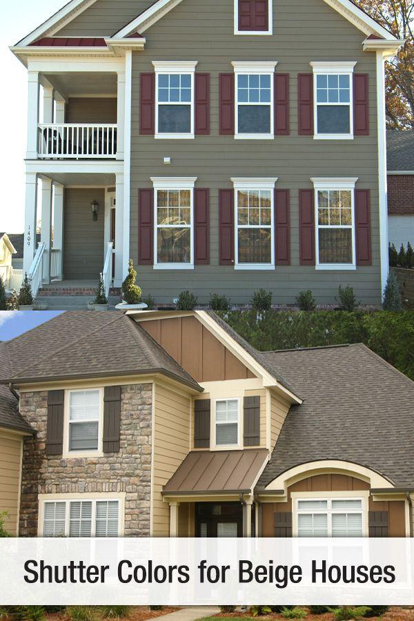 Shutter Colors For Beige Houses Shutter Colors House Shutter