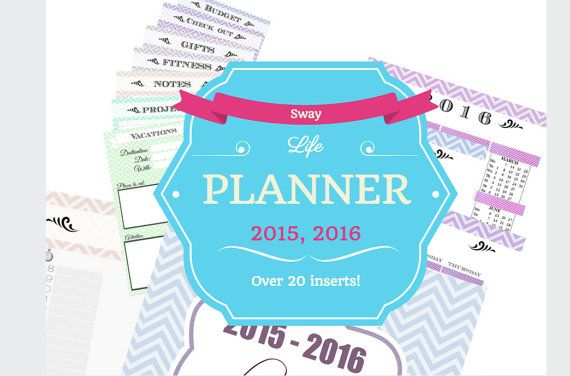 Planner Printables Inserts and Templates   Instant by PattySway