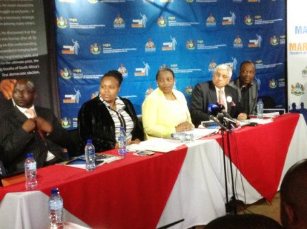 During the Media Briefing #ROC #MandelaMarathon @LezMoeti