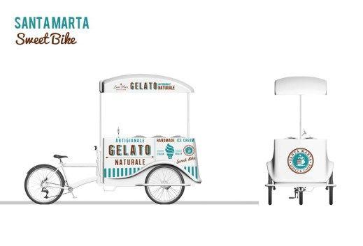 Grafica carretto gelati artigianale