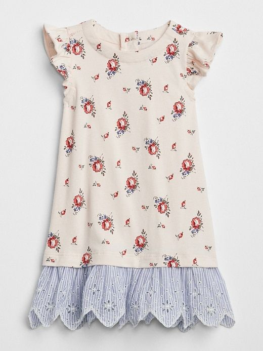 7e7564b6005f Gap Baby Stripe Eyelet Mix-Fabric Dress New Sheer Pink | Products ...