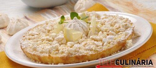 Receita de Tarte de limão com suspiros. Descubra como cozinhar Tarte de limão…