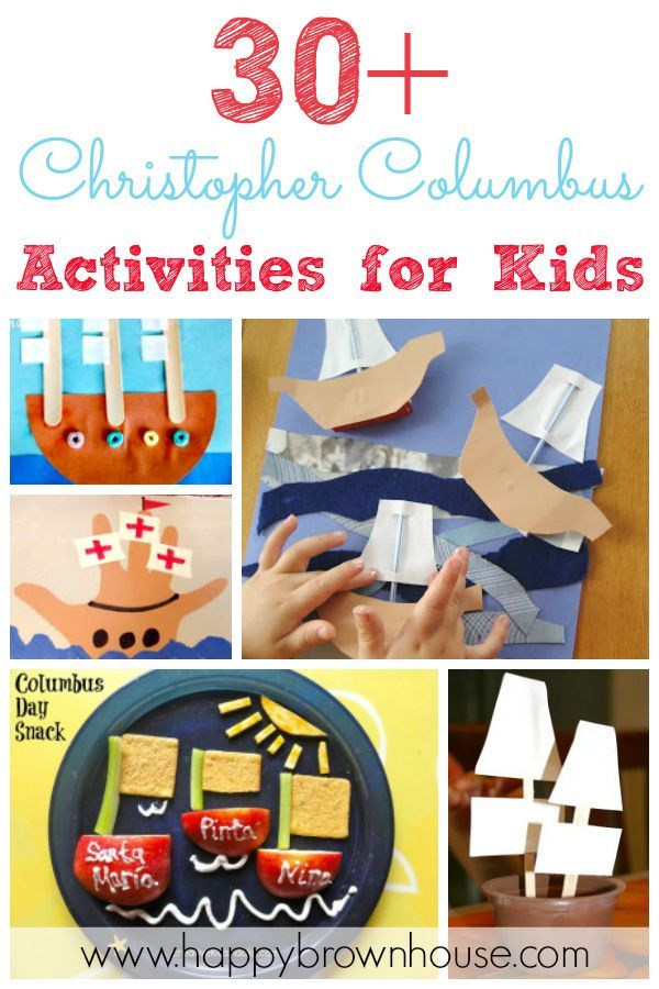 30  Christopher Columbus Activities for Kids (crafts, snacks, printables, books, and more!) Perfect for Columbus Day in October!