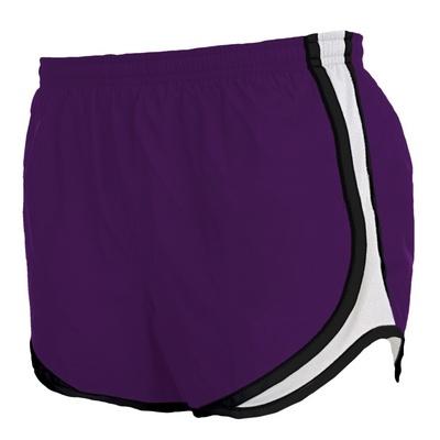 P62 Boxercraft Purple & White Ladies Athletic Polyester Velocity Shorts #sports #shorts #advertising #purple | College University Customized Shorts | High School Sportswear Apparel