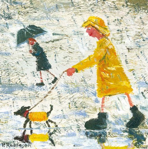 'Milly and Charlie' By Paul Robinson. Blank Art Cards By Green Pebble. www.greenpebble.uk