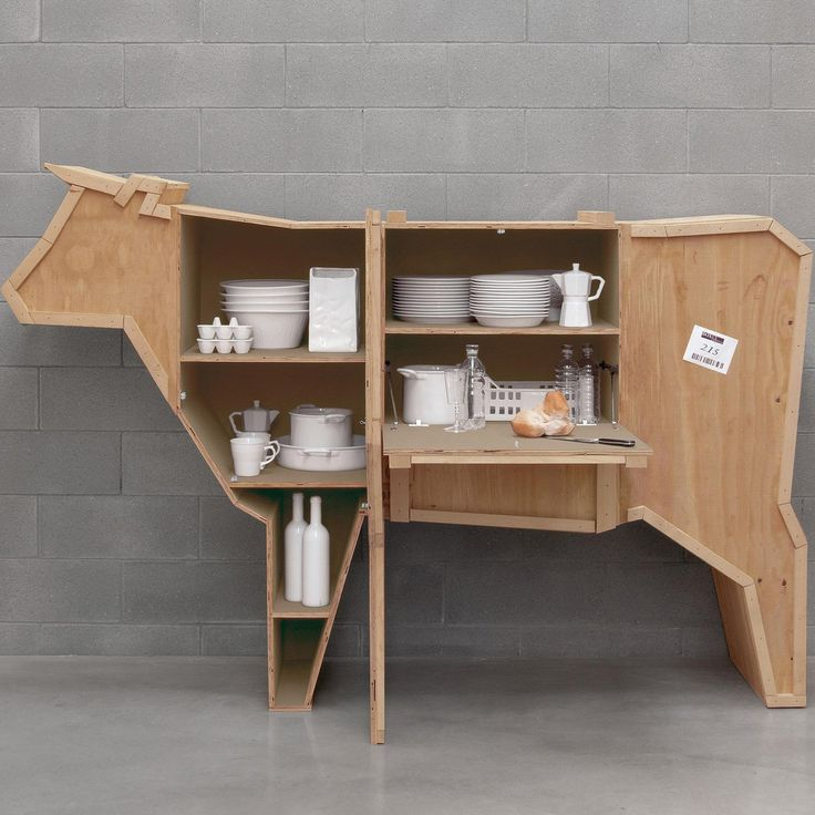 Seletti Sending Animal Cow Shelf #Animal, #Shelf, #Unconventional, #Wood
