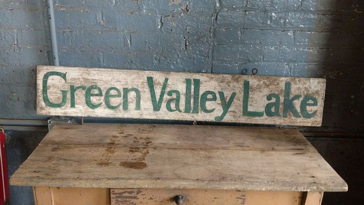 701 best art vintage signs old images on pinterest for Green valley lake fishing
