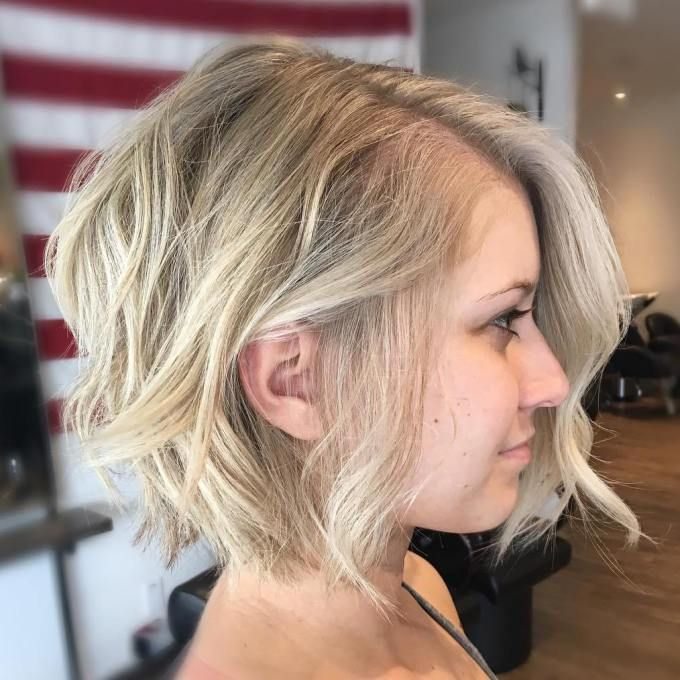 Ash Blonde Messy Bob For Fine Hair