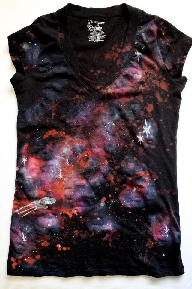 punk projects: Warp Speed Galaxy Shirt DIY