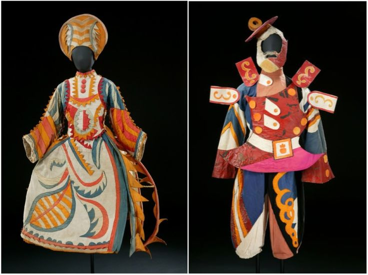 Costume Design by Mikhail Larionov, The Tale of The Buffoon (1921). [Credit: Diaghilev and the Ballets Russes, The National Gallery of Art] ~Tyranny Of Style~