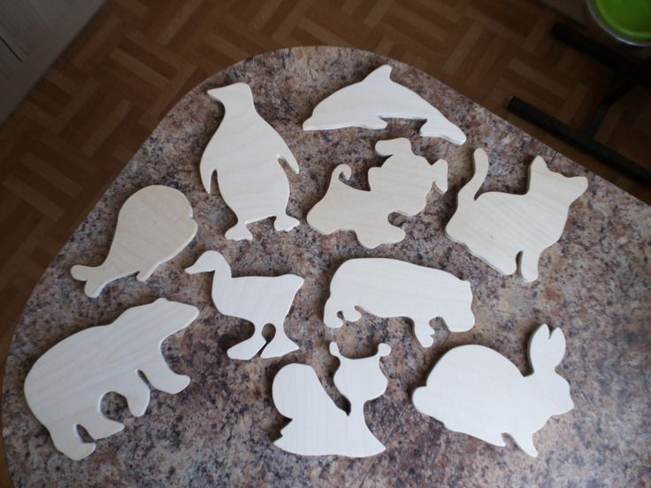 kid set of 10 plywood toys animals by SoulIdeas on Etsy