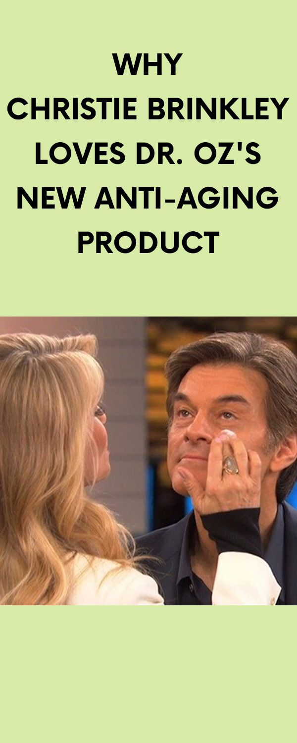 [ad] Why Christie Brinkley Loves Dr. Oz's New Anti-Aging Product