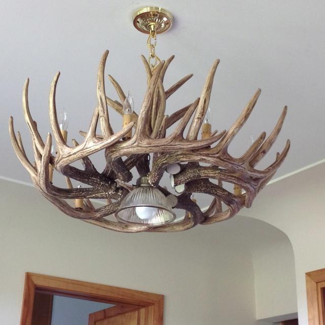 22 best antler chandelier images on pinterest chandelier antler light for pool table mozeypictures Image collections
