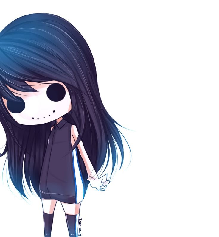 Anime Girl Chibi: Death Anime Chibi Girl, Emo Scene Girl, Goth