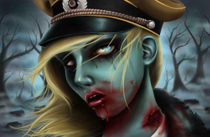 Beautiful cute zombie girl! #zombie #zombies #girlzombies