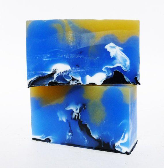 Phoenician Blu Handcrafted, Vegan, Glycerin Soap.