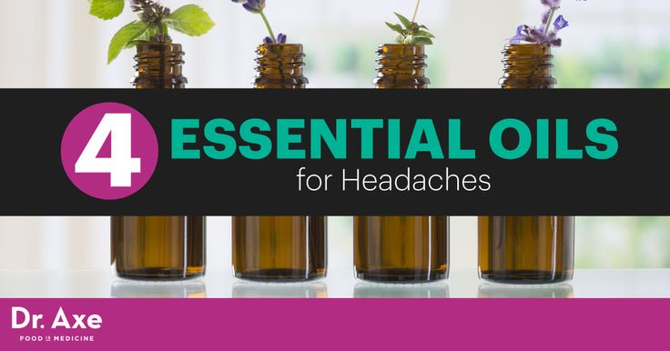 """""""Did you know you can use essential oils for headaches? Here are top four essential oils for headaches and how to use them to relieve headache pain. """""""